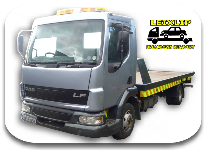 Leixlip Breakdown Recovery, Recovery Truck, just yards from N4 / M4 motorway -  fast breakdown recovery for Dublin & Co. Kildare, Ireland. Tel: 087 793 5120.